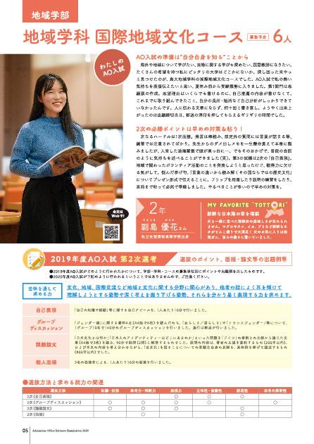 6.地域学部地域学科国際地域文化コース在学生のメッセージ、第2次選考選抜のポイント、面接・論文等の出題例等